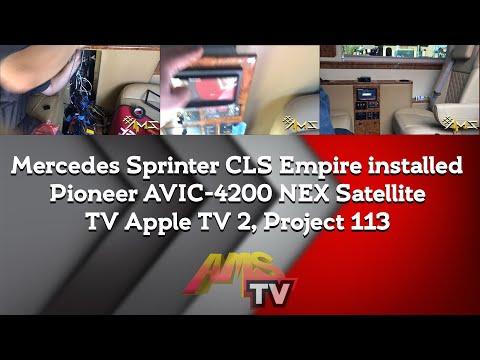 Project 113 Mercedes Sprinter CLS Empire installed Pioneer AVIC-4200 NEX Satellite TV Apple TV 2