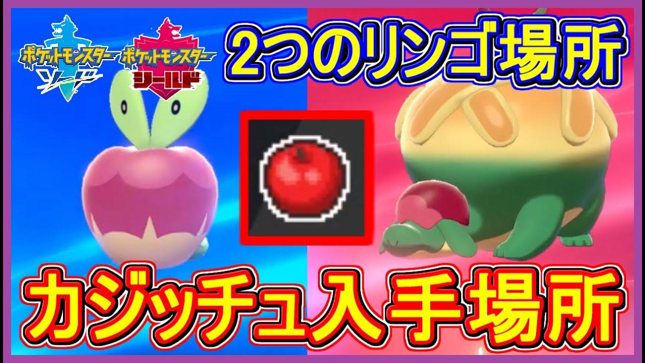 ポケモン 剣 盾 すっぱい りんご すっぱいりんごとあまいりんご入手方法