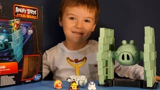 Angry Birds Star Wars 2 Toys Jenga Tie Fighter Game. Игрушки Энгри Бёрдс Звёздные Войны 2