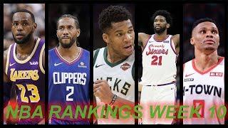 Nba Power Rankings Going Into Christmas.. Top 10 Teams