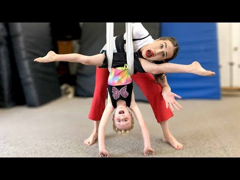 Pregnant Miranda Acrobats with Parker! (BTS )