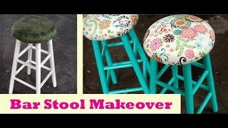 Bar Stool Makeover- Español With English Captions