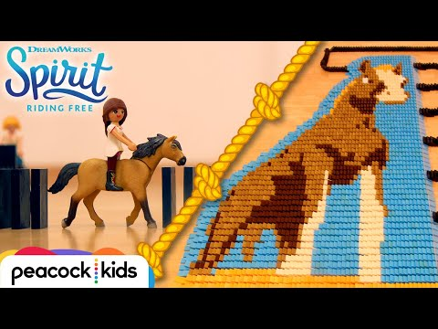 SPIRIT, LUCKY and Friends in 25,000 Dominoes!   SPIRIT RIDING FREE