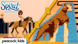 SPIRIT, LUCKY and Friends in 25,000 Dominoes! | SPIRIT RIDING FREE