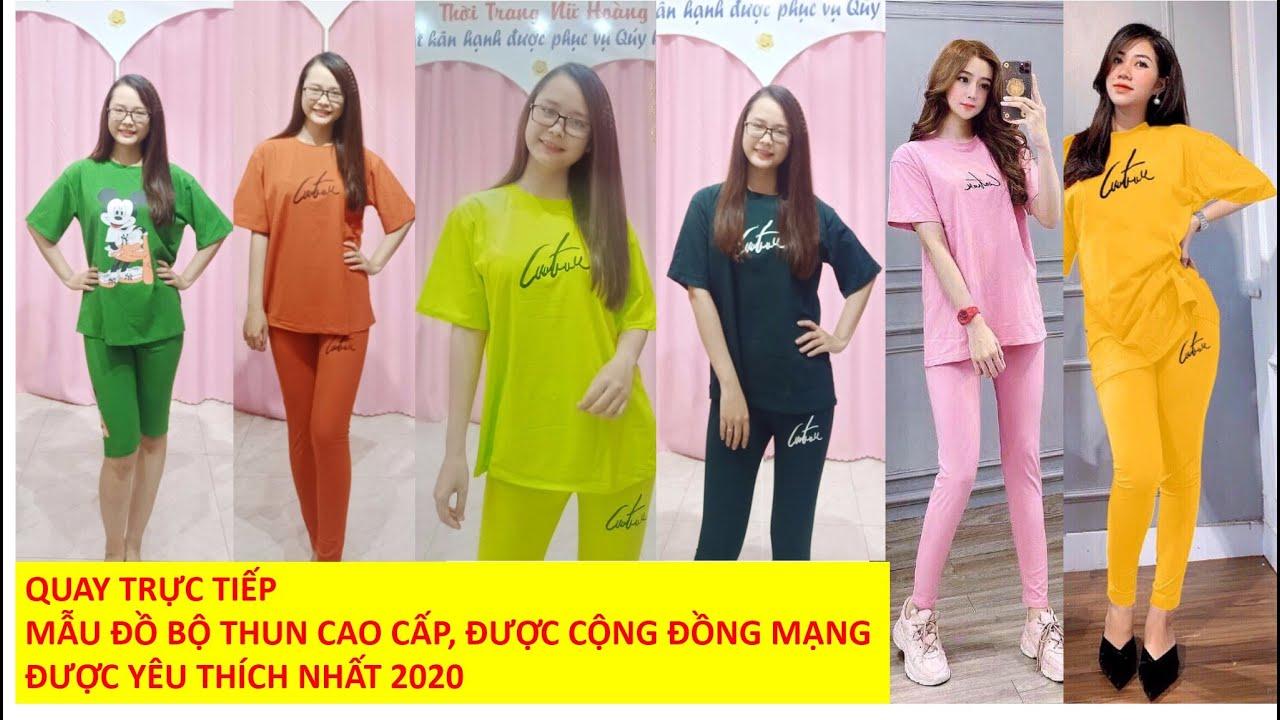 Đồ bộ thun cao cấp, bộ thun áo form rộng quần ôm được hơn 10.000 bạn gái yêu thích| HOTTREND 2020