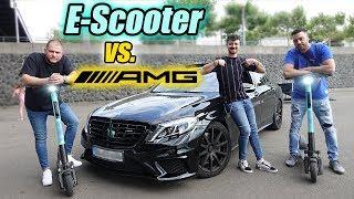 E-Scooter vs AMG - Wer ist schneller? Challenge |  FaxxenTV