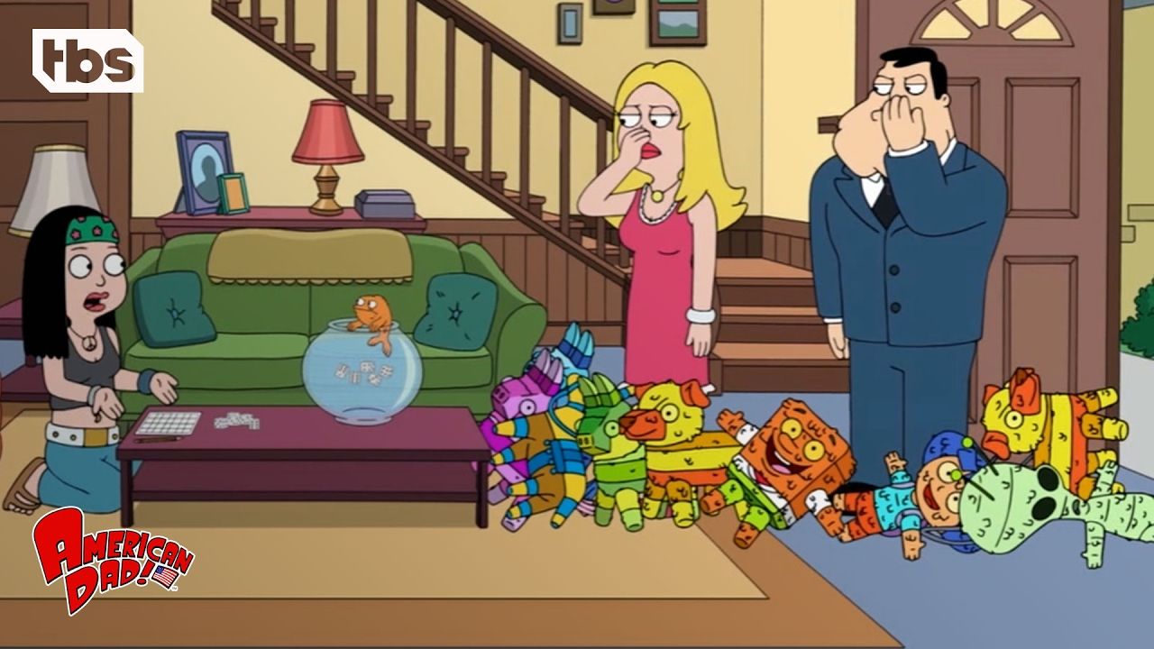 American dad klaus is a smelly fish clip tbs youtube for Stinky fish in a can
