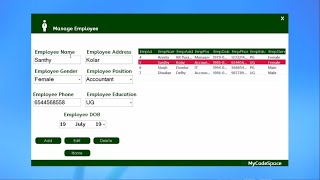 Vb Full Project(Employee Management System)with Source Code