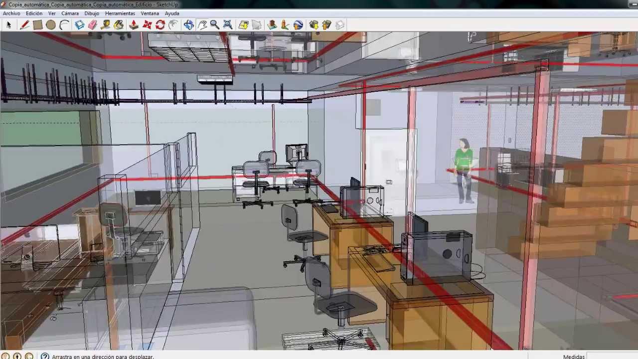 Cableado estructurado google sketchup v deo for Red de una oficina