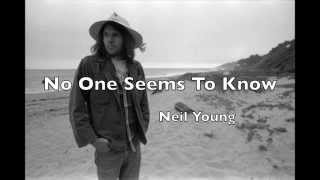 No One Seems To Know - Neil Young   Cover