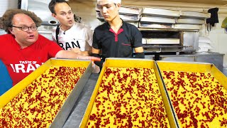 Street Food in Iran - INSANE 10,000 Person FACTORY Tour + BEST Iranian Food in Tehran, Iran!!!