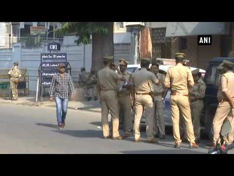 Security beefed up outside CBI office in Lucknow ahead of Congress protest