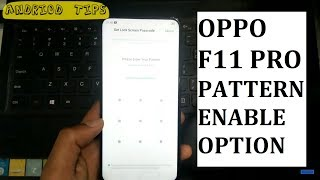How to set PATTERN LOCK on Oppo F11 PRO
