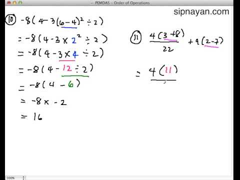 hard order of operations problems pdf