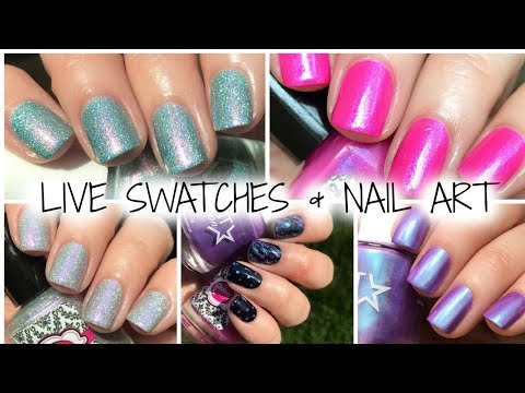 I CAME OUT WITH MY OWN POLISHES!!! LIVE SWATCHES & NAIL ART   YWP POSSE