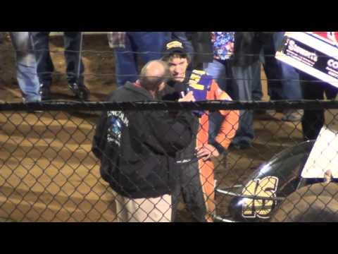 Lincoln Speedway 410 Sprint Car Victory Lane 10-10-15