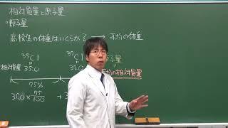 【化学基礎】原子量・分子量・式量の考え方(1of2)