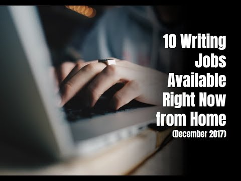 10 Writing Jobs Available Right Now from Home (Dec. 2017)