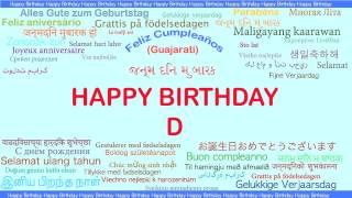D   Languages Idiomas - Happy Birthday