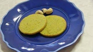 Kaju Badam Puri  Recipe Video - Almond Cashew Cookies Without Flour & Butter - Upavas Fasting