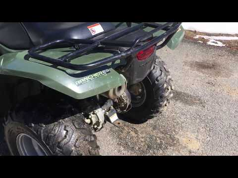 How to check the coolant on a Honda rancher