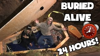 BURIED ALIVE FOR 24 HOURS CHALLENGE (6 FOOT DEEP IN A COFFIN)