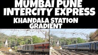 Push Pull Intercity Express 12127/28 : Mumbai ⇋ Pune : Khandala - Central Railways #pushpull #irfca