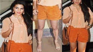 Jacqueline Fernandez In Short Pant & Transparent Shirt Looking Hot