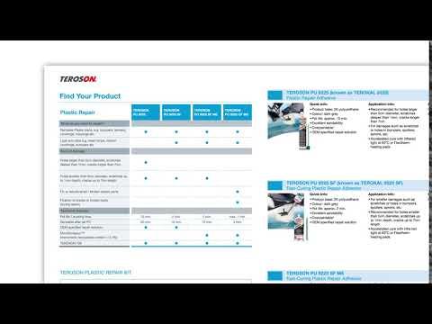 New literature showcasing: TEROSON, LOCTITE & BONDERITE for the vehicle repair & maintenance market