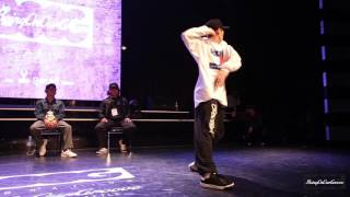 Student Side Best8 1 YUKI vs Boogie Tie | 20151024 Being On Our GROOVE Vol.3 Popping 1 on 1 BATTLE