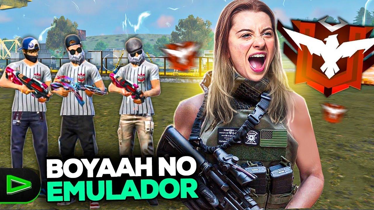 RUMO AO MESTRE NO EMULADOR! EVOLUINDO NA RANKEADA DE FREE FIRE