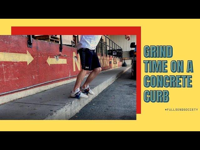 Grind time on a concrete curb | Skidz Grindplates