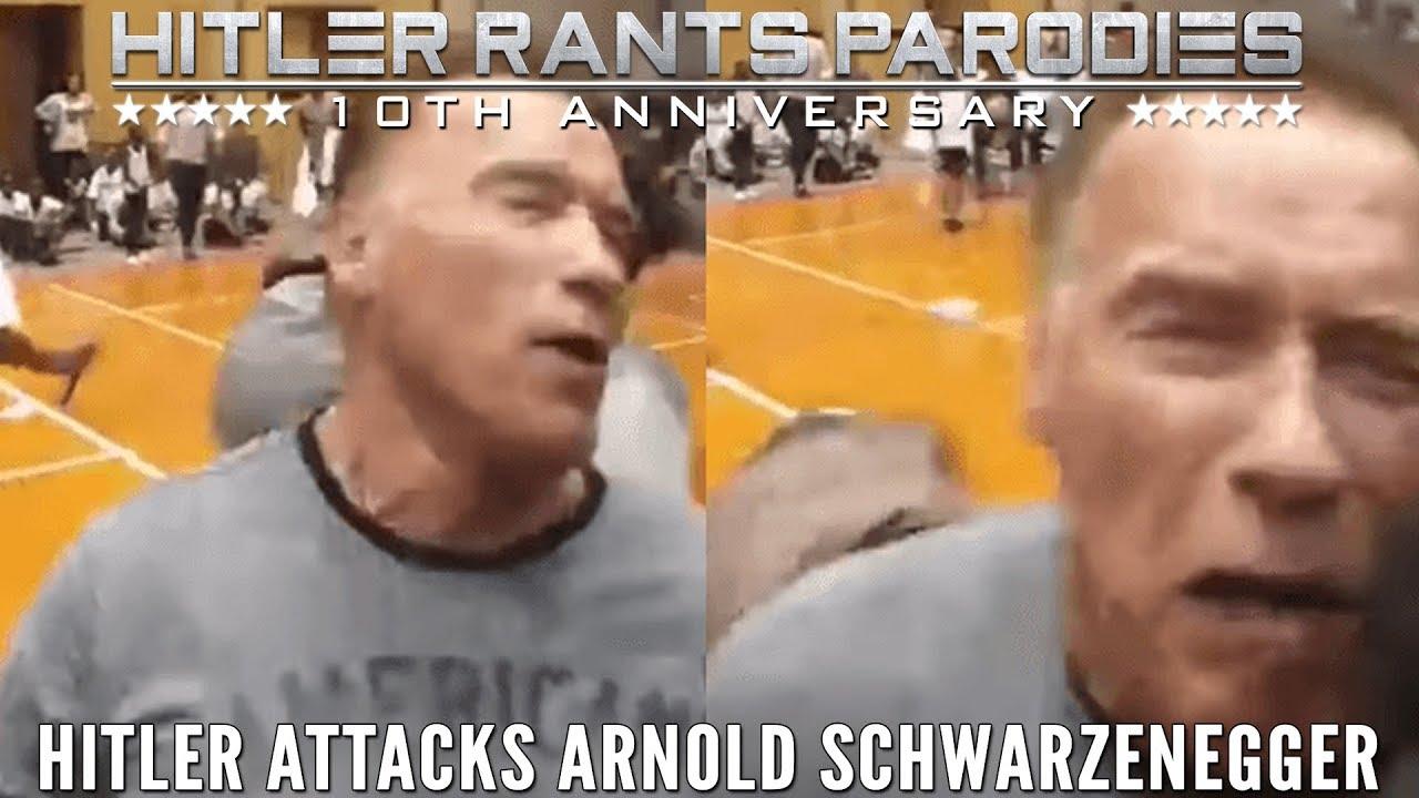 Hitler attacks Arnold Schwarzenegger