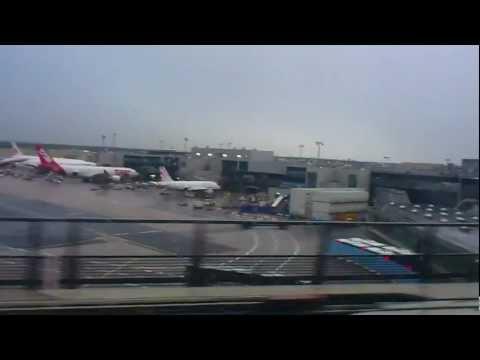 Переезд между терминалами в аэропорту Франкфурта