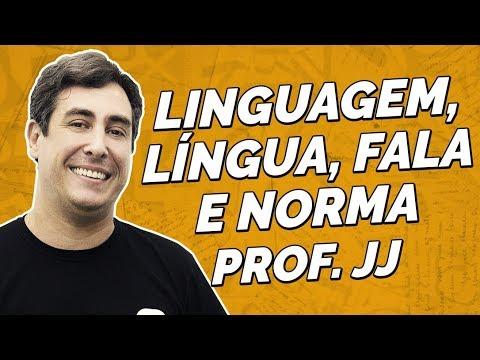 Linguagem, língua, fala e norma | Língua Portuguesa | Prof. JJ