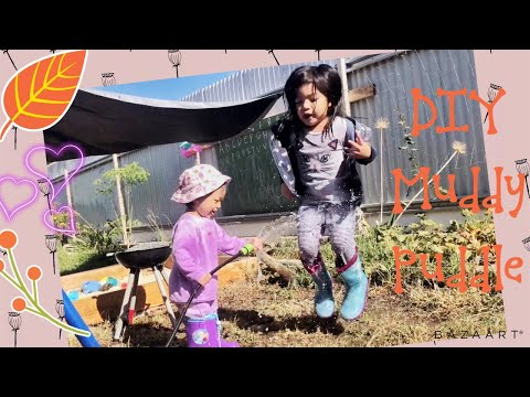 DIY Muddy Puddle | Peppa Pig's Muddy Puddle inspired | Outdoor Play | Nursery Rhymes | Fun Song