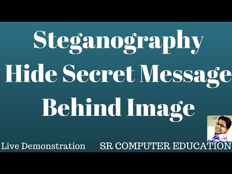 Steganography Hide secret message behind image - YouTube