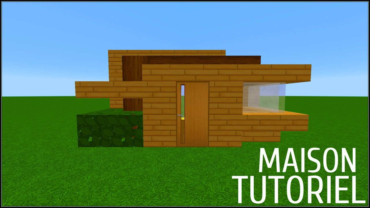 Minecraft tuto comment faire une maison en survie youtube for Minecraft maison moderne avec xroach