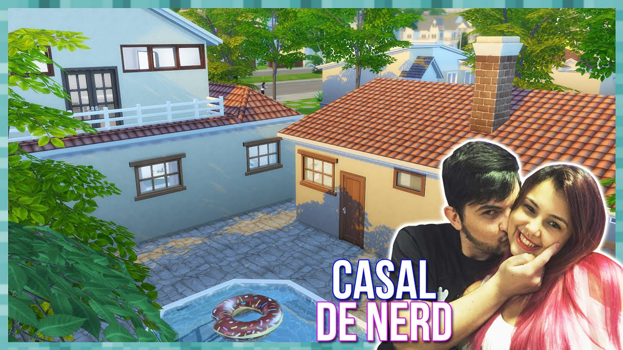 The sims 4 casa do casal de nerd build youtubers house for Sims 4 piani di casa