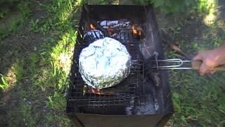 Как приготовить рыбу с овощами в фольге на мангале. | fish - grilled with vegetables in foil