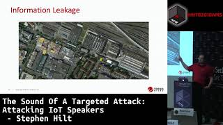 #HITB2018AMS CommSec D1 - Attacking IoT Speakers - Stephen Hilt
