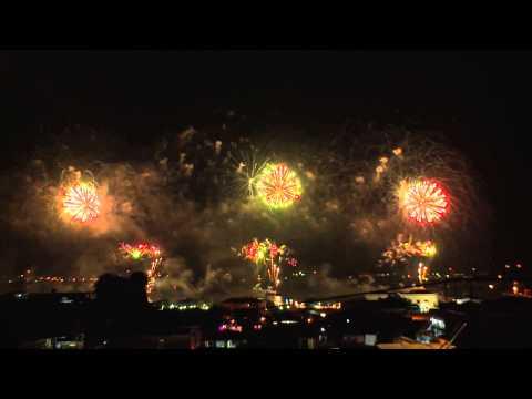 Santiago de Cuba 500th Anniversary fireworks 2015