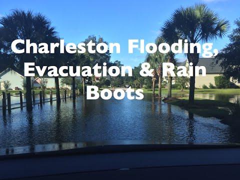 Vlog| Charleston SC Rain, Hunter Boots, Evacuating Our Home