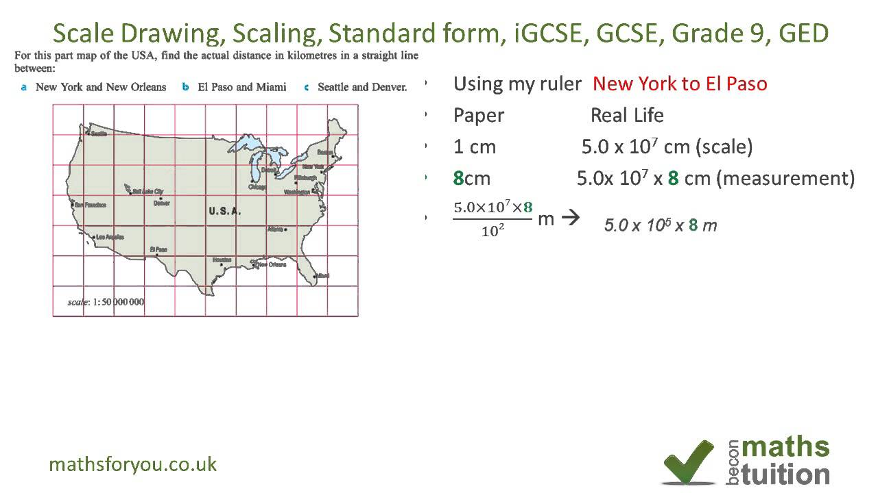 Scale Drawing Scaling Measuring Standard Form Indices