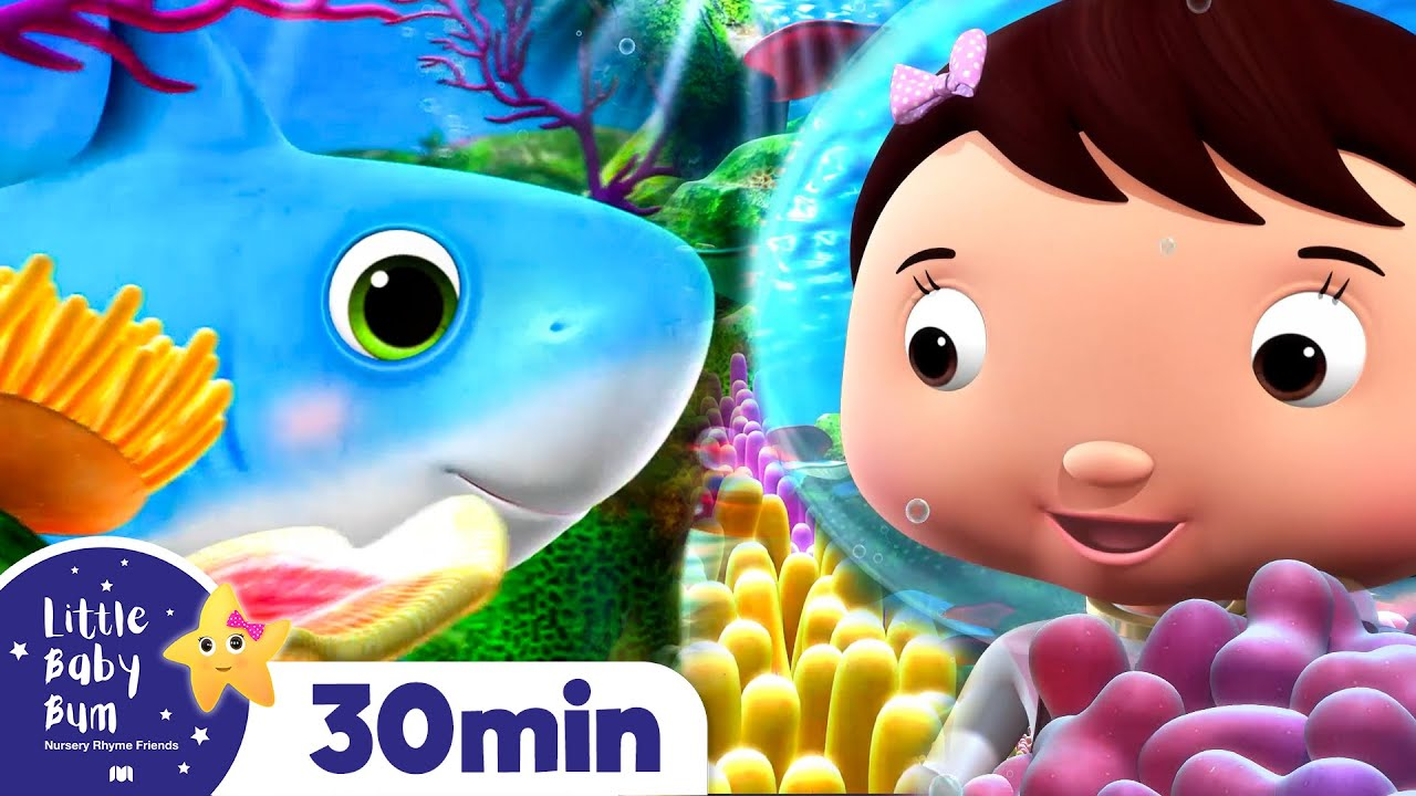 Baby Shark and Little Fish | Earth Day! | +More Nursery Rhymes and Kids Songs | Little Baby Bum