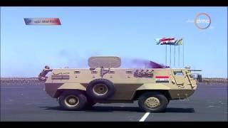 بالفيديو| تدريبات قوات الصاعقة أمام السيسي في افتتاح قاعدة محمد نجيب