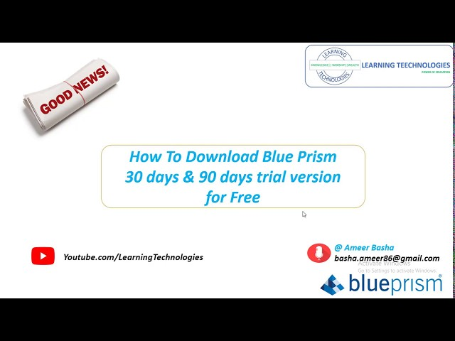 (Blue Prism) Good News: How To Download Blue Prism 30 days and 90 Days trial versions for free
