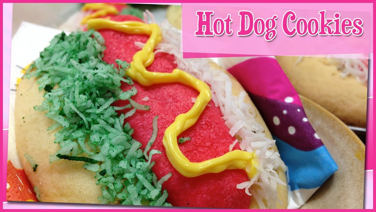 Make Hot Dog Cookies at Home! ~ ホットドッグクッキーの作り方 - YouTube