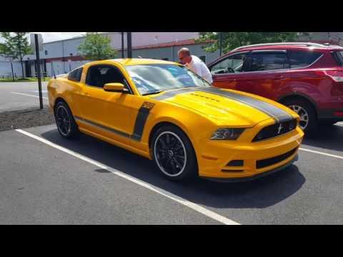 School Bus Yellow Ford Mustang Boss 302 pulling out