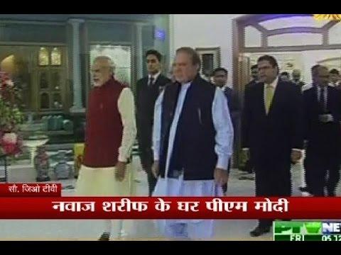 PM Modi reaches his Pakistan counterpart Nawaz Sharif's house